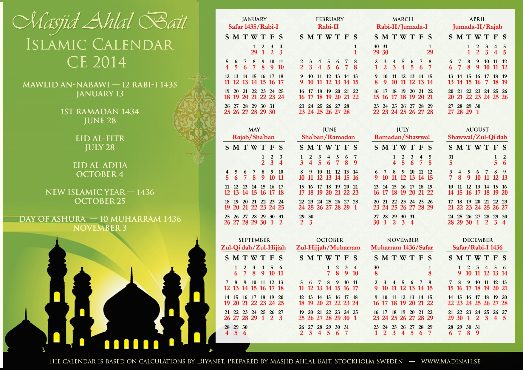 3 Blessed Days in Islamic Calendar